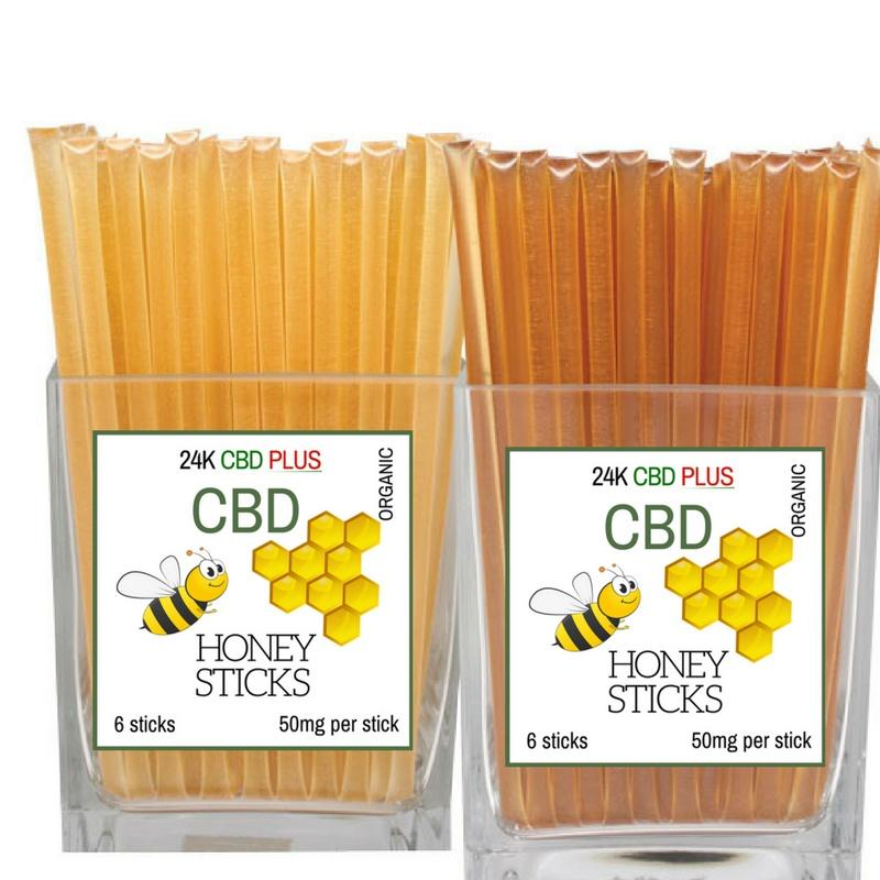 Organic CBD Honey Sticks