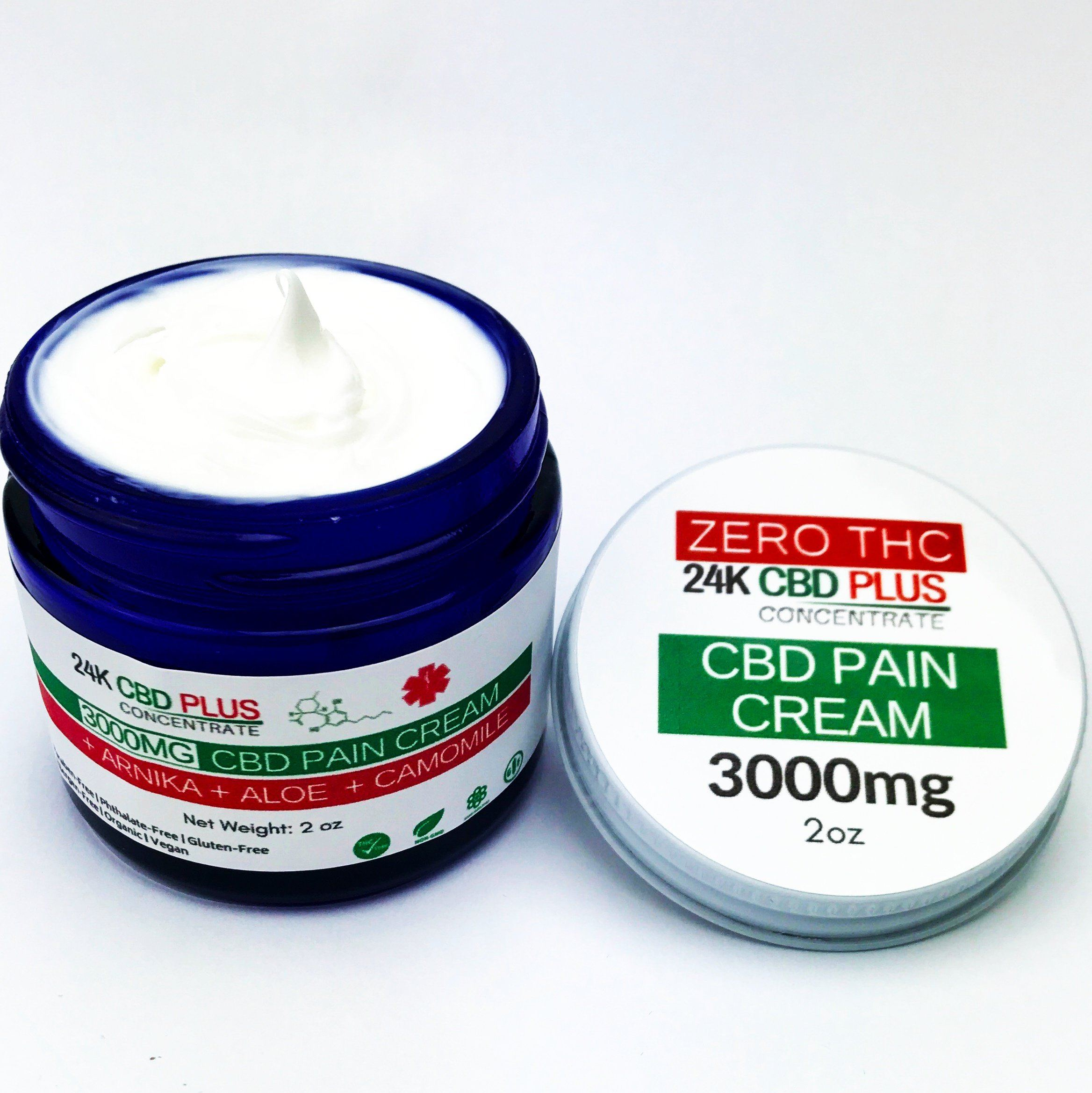 Pain Remedy - CBD CREAM In 2oz -3000mg Or 4oz -5000mg Ultra Strength Full Spectrum +