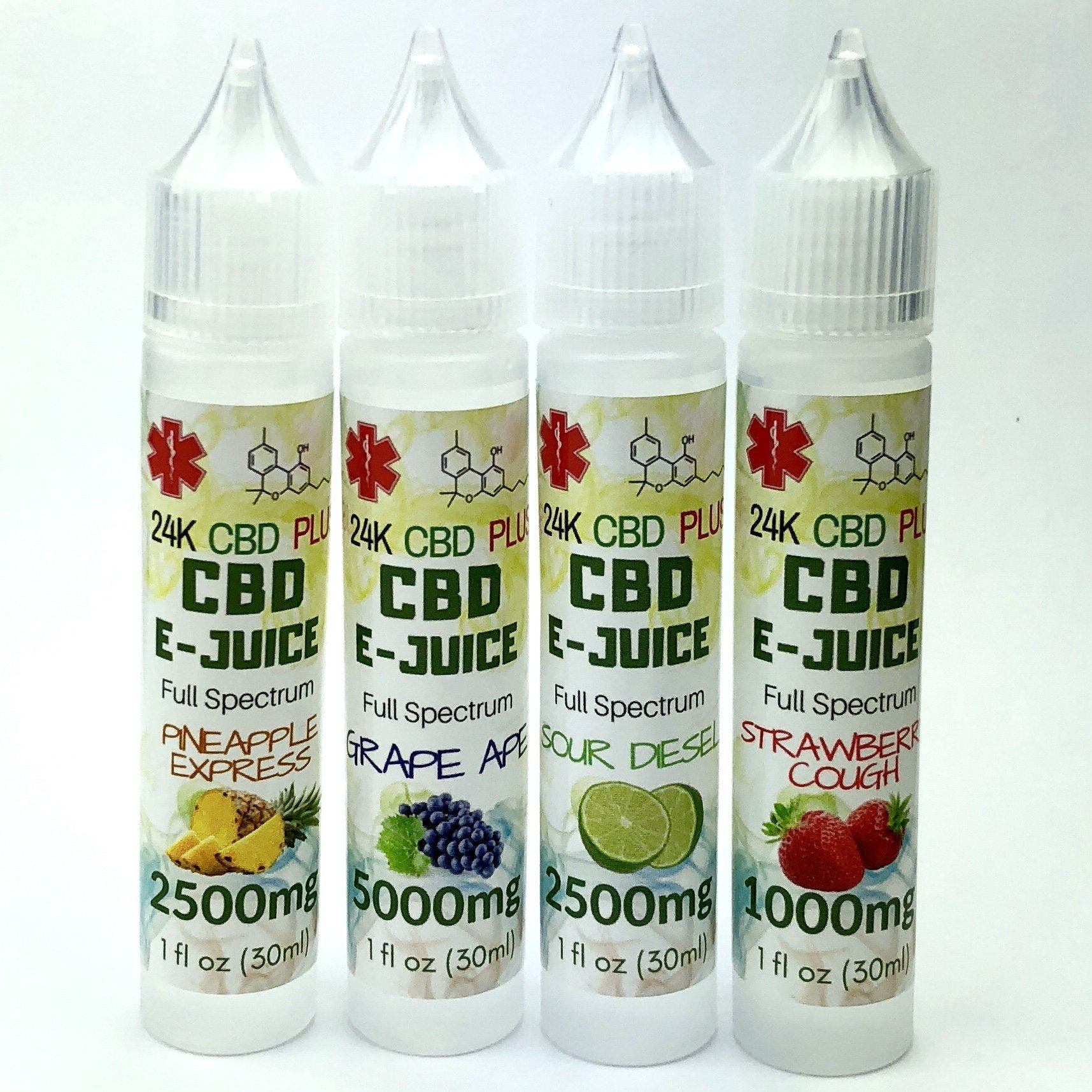 Strain Specific Flavors 1000mg To 5000mg Full Spectrum CBD Vape Juice