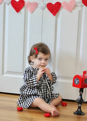 girls gingham dress valentines day outfit
