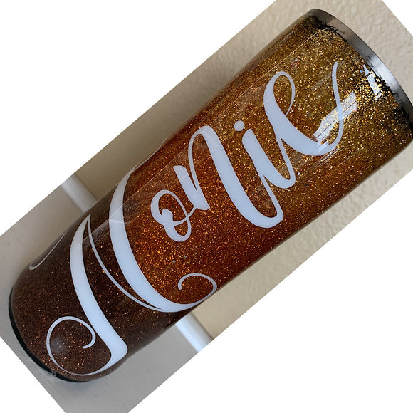 3 color Ombré Glitter Tumbler with Name