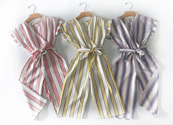 The Norma Jean Striped Romper