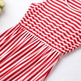 The Antonia Red Striped Dress