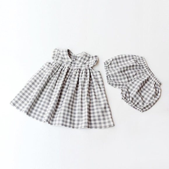 The Brynnlee Gray Gingham Set