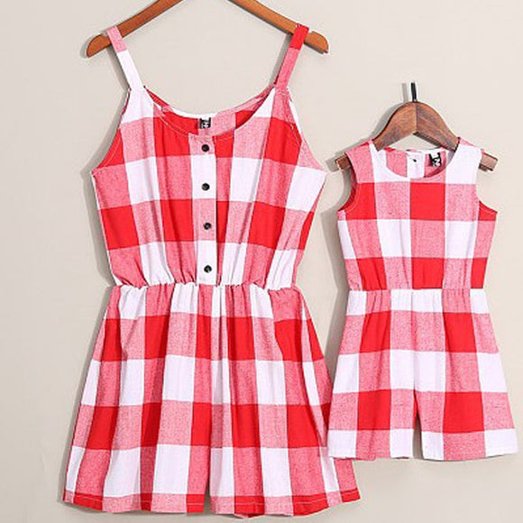 The Tammy Buffalo Check Romper