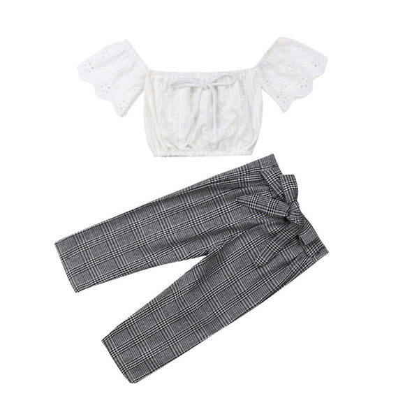 The Wendy Plaid and Ruffle Set