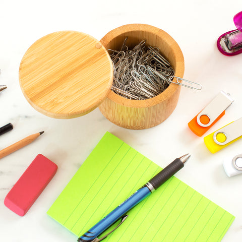 Totally Bamboo Salt Box with Magnetic Swivel Lid