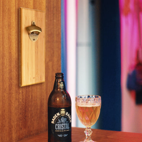 Wall Mounted Bottle Opener with Magnetic Bottle Cap Catcher