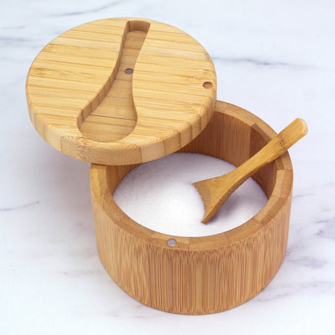 Totally Bamboo Big Dipper Salt Box with Spoon