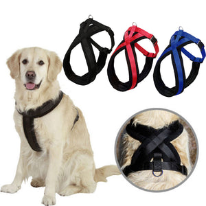 Pet Large Dog Control Harness Collar Safety Strap Mesh Adjustable Vest For Dog's  lint+nylon 3 Colors S/M/L/XL