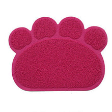 Pet Dog Puppy Cat Feeding Mat Pad Cute Paw PVC Bed Dish Bowl Food Water Feed Placemat Wipe Clean Pet Cat Dog Accessories