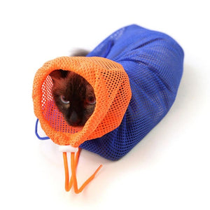 New Multifunctional Cat Grooming Bag Bathing Bags Fitted Mesh Polyester Bag Pet Supplies No Scratching Biting For Nail Trimming