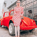 Asteria Vintage Polka Dot Dress - Huzsy