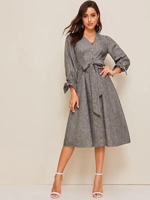 Nerida Knot Cuff Midi Dress