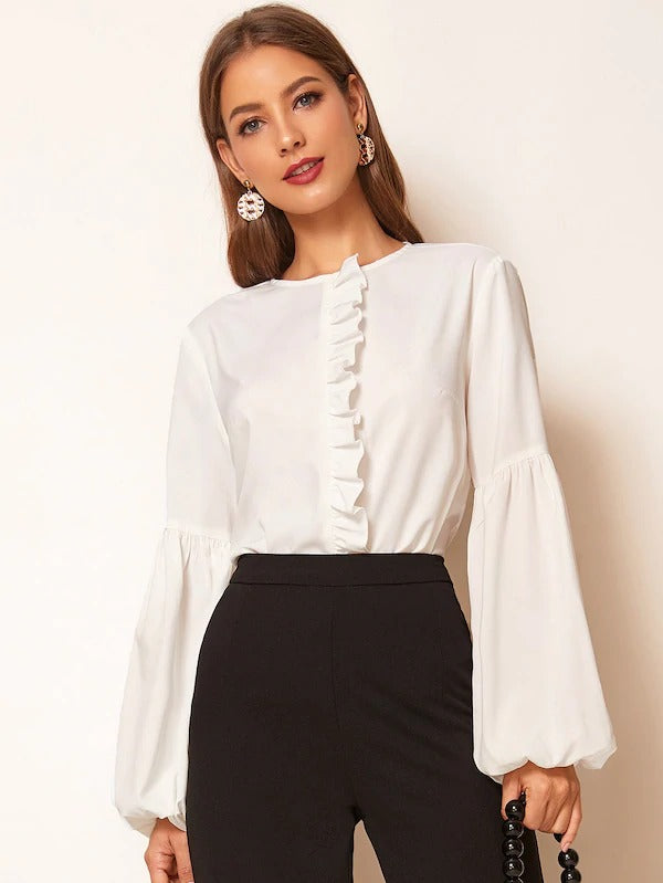 Joan Lantern Sleeve Blouse