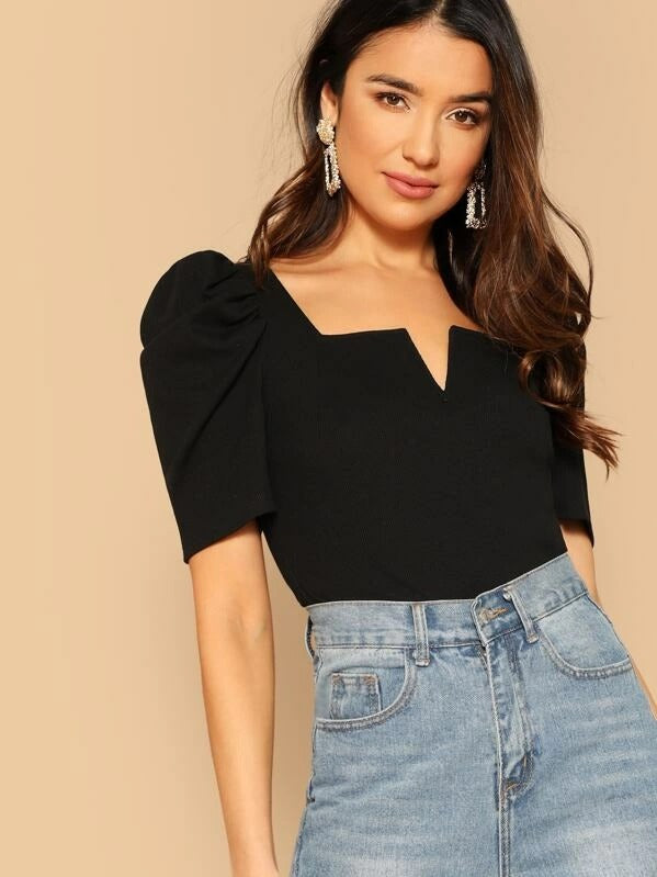 Lara Puff Sleeve Top - Huzsy