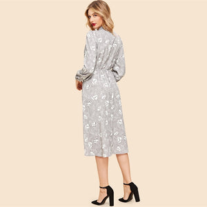 Lilliana Vintage Midi Dress - Huzsy
