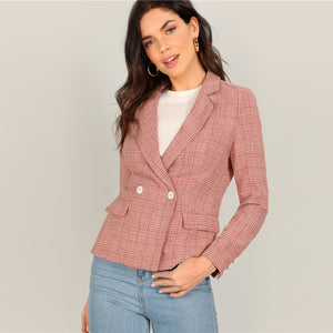 Alice Plaid Blazer - Huzsy