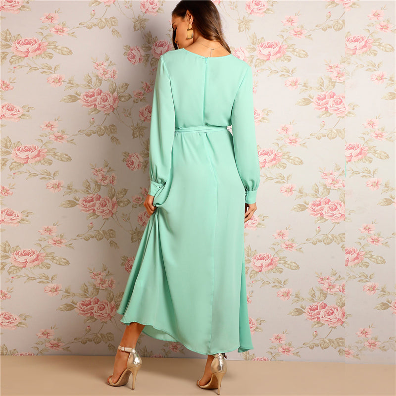 Becky Wrap Maxi Dress - Huzsy
