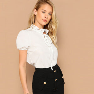 Amalia Frill Trim Top - Huzsy