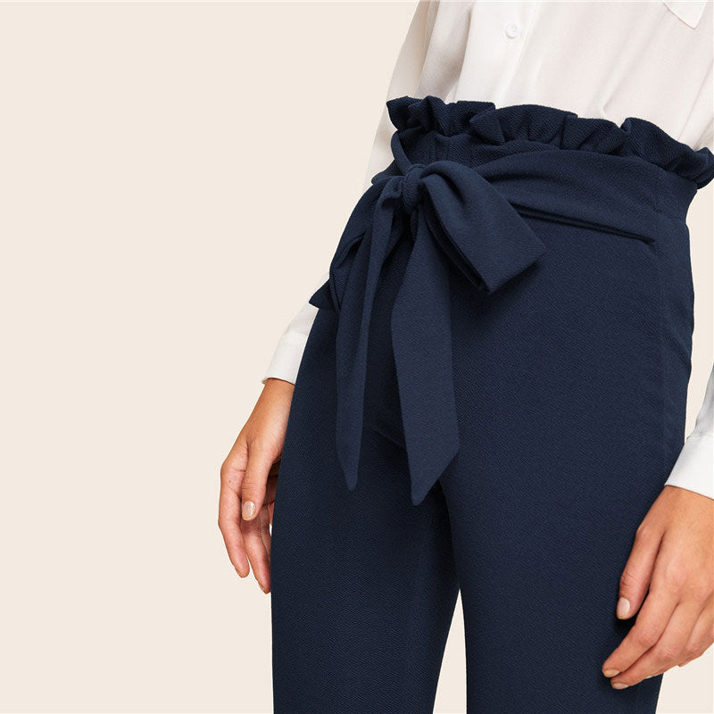 Titian Paperbag Pants - Huzsy