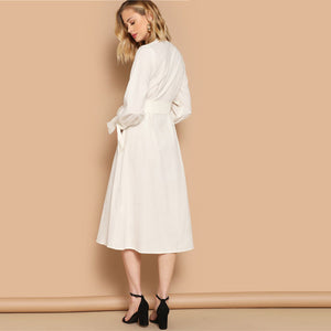 Simone Knot Cuff Midi Dress - Huzsy