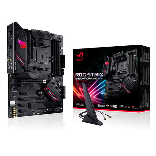 MOTHERBOARD ASUS ROG STRIX B550-F GAMING  WIFI AM4 DDR4 ATX PCIe 4.0 HDMI DP ROG STRIX B550-F GAMING WIFI