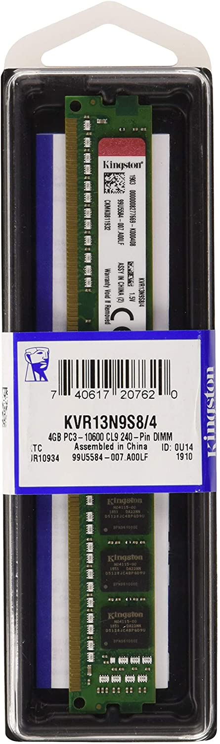 MEMORIA KINGSTON DDR3 4GB 1333 KVR KVR13N9S8/4