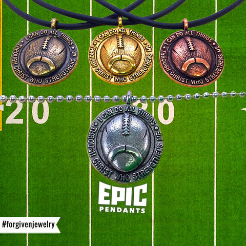 epic i can do sp7 football sports medal necklaces