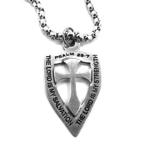 Shield Cross On Heavy Chain