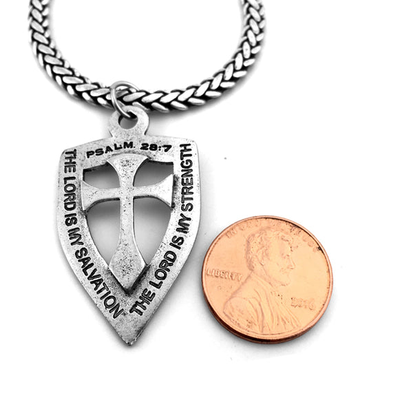 Cross Shield On Heavy Chain