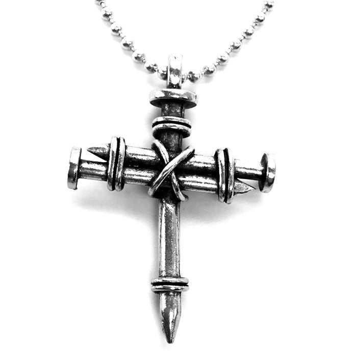 Pewter Nail Cross Necklace – Forgiven Jewelry