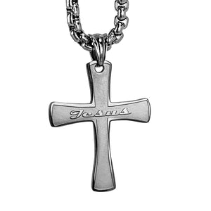 Cross Jesus Heavy Chain Necklace