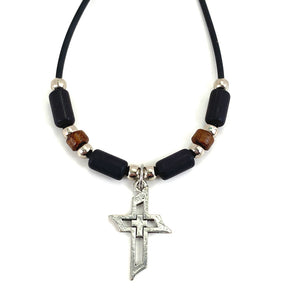 Men Of Faith Cross Beaded Necklace