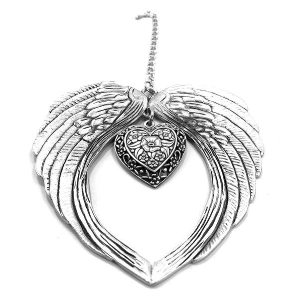 Angel Wings Heart Keepsake Ornament Gift