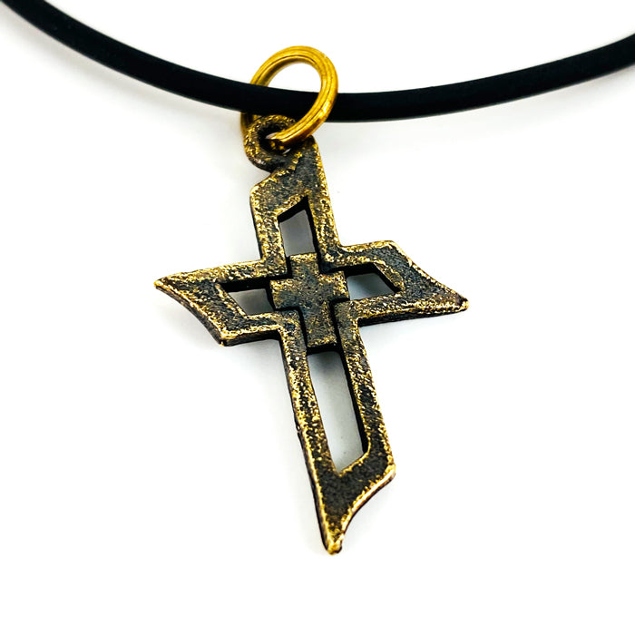 Cross Of Faith Necklace Antique Brass Finish
