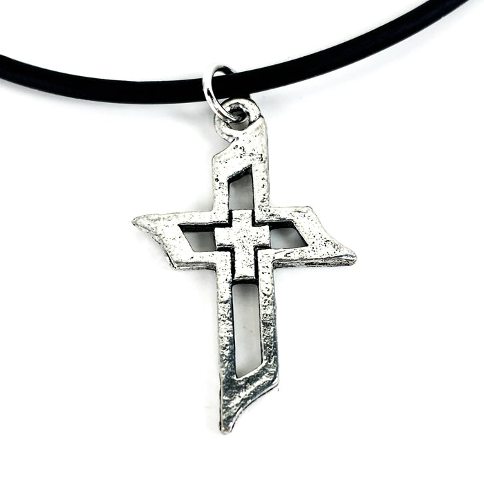 Cross Of Faith Necklace Antique Silver Finish