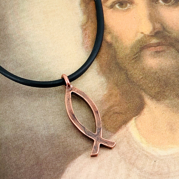 Ichthus Fish Copper Necklace