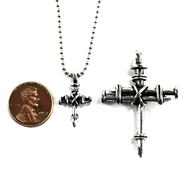 Penny Nail Cross Necklace Mini
