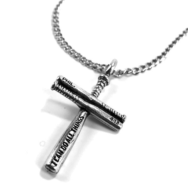 Baseball Bat Cross Small on Chain