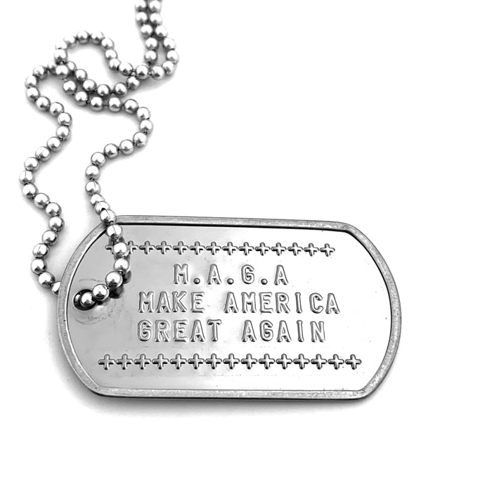 Make American Great Again Dog Tag Necklace
