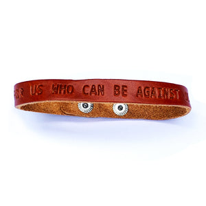 Romans 8:31 God Is For Us Small Leather Bracelet