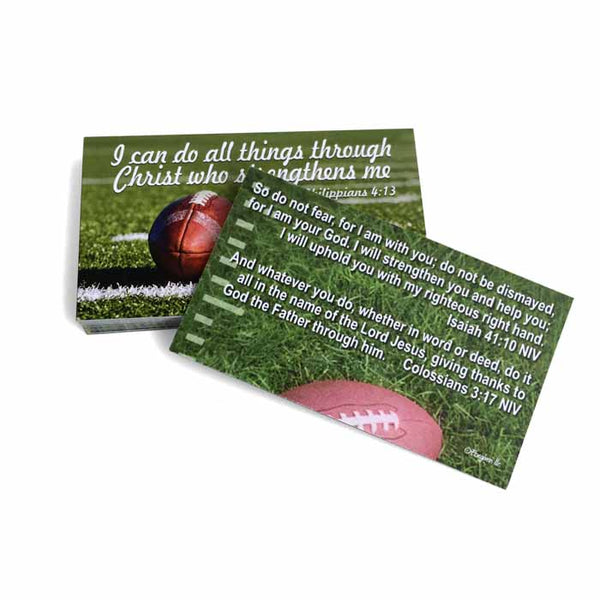 Football Phil 413 I Can Do All Things Through Christ Inspirational Pocket Card