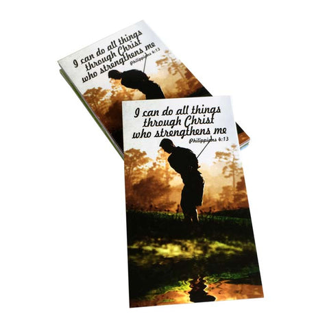 Golf Phil 413 I Can Do All Things Through Christ Inspirational Pocket Card