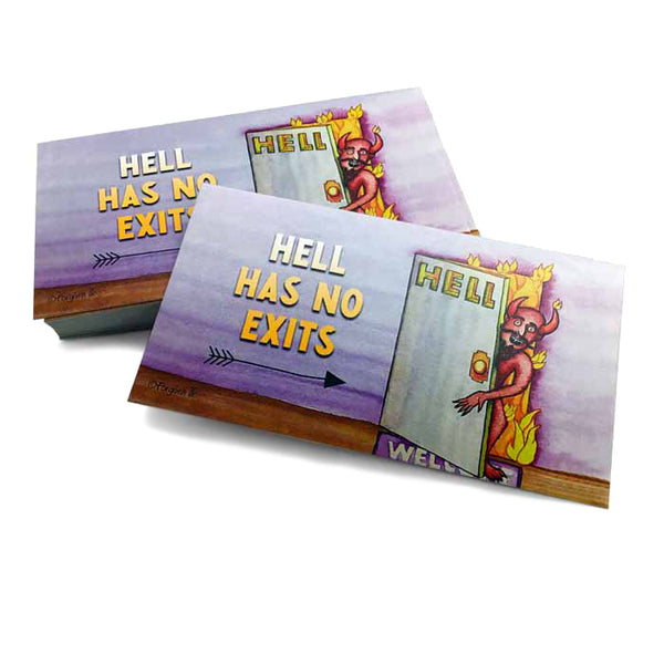 Hell Has No Exits Inspirational Pocket Card