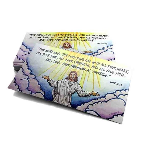 Love The Lord Your God 10 Commandments Inspirational Pocket Card