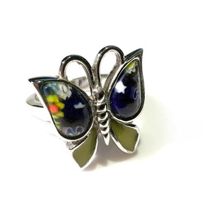 Millefiori Butterfly Ring Size 6