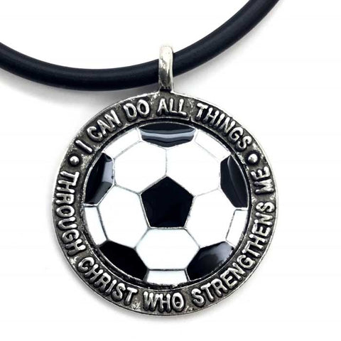 Soccer Medal on Black Rubber