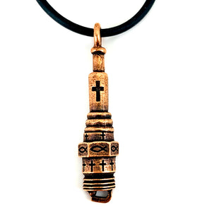Spark Plug Copper Necklace