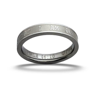 Be Still and know Ring reverse engrave text from Psalm 4610